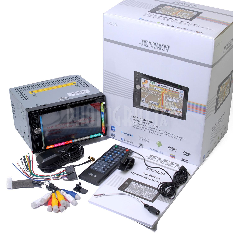 """Jensen VX7020 Double DIN 6.2"""" GPS Navigation w Bluetooth & BACKUP CAMERA by Jensen"""
