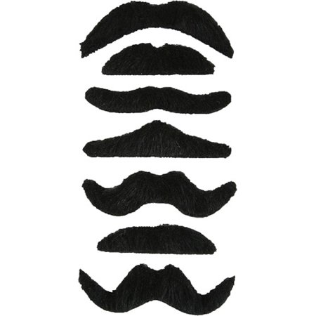 Adult Mustache Adult Halloween Accessory, 7-Pack](Kd 7 Halloween)