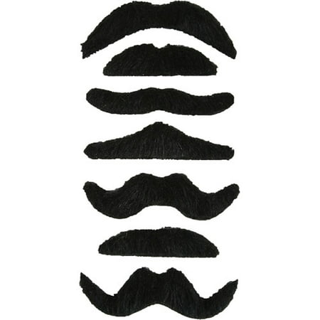 Adult Mustache Adult Halloween Accessory, 7-Pack