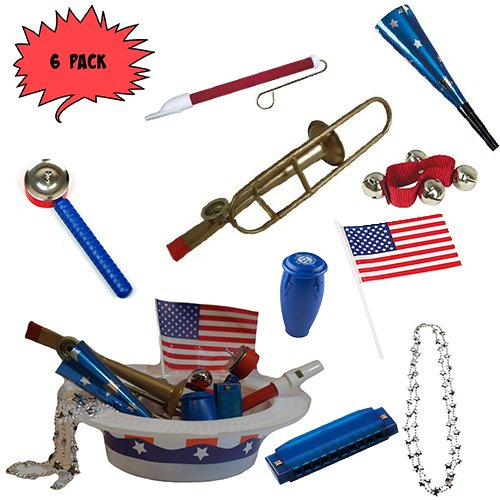 Labor Day Picnic / Parade Pack for Kids- Music & Fun Pack F3 (X6)