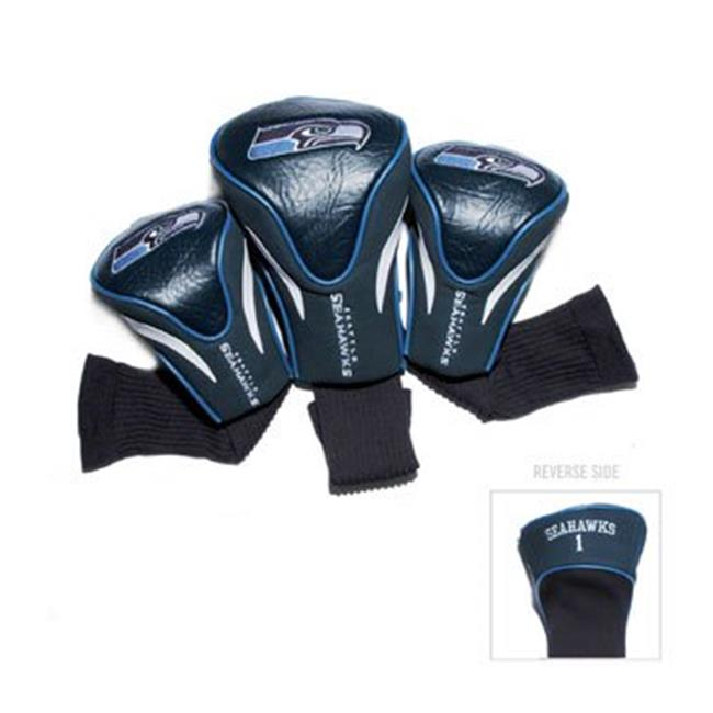 Team Golf 32894 Seattle Seahawks 3 Pack Contour Fit Headcover