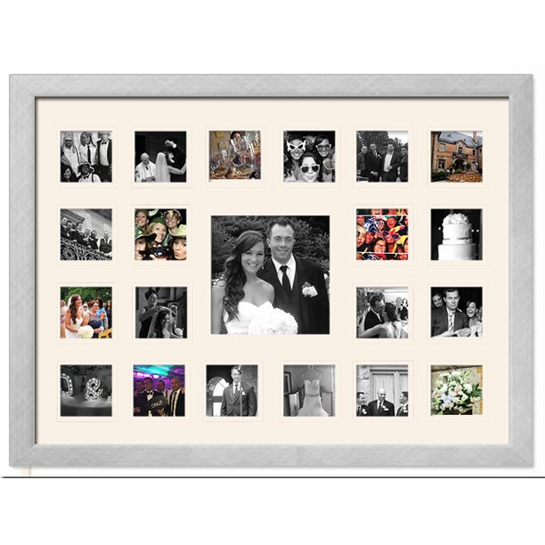 Wedding Photo Collage Frame Holds 21 Photos Great For Pics Captured By Friends Family Walmart Com Walmart Com