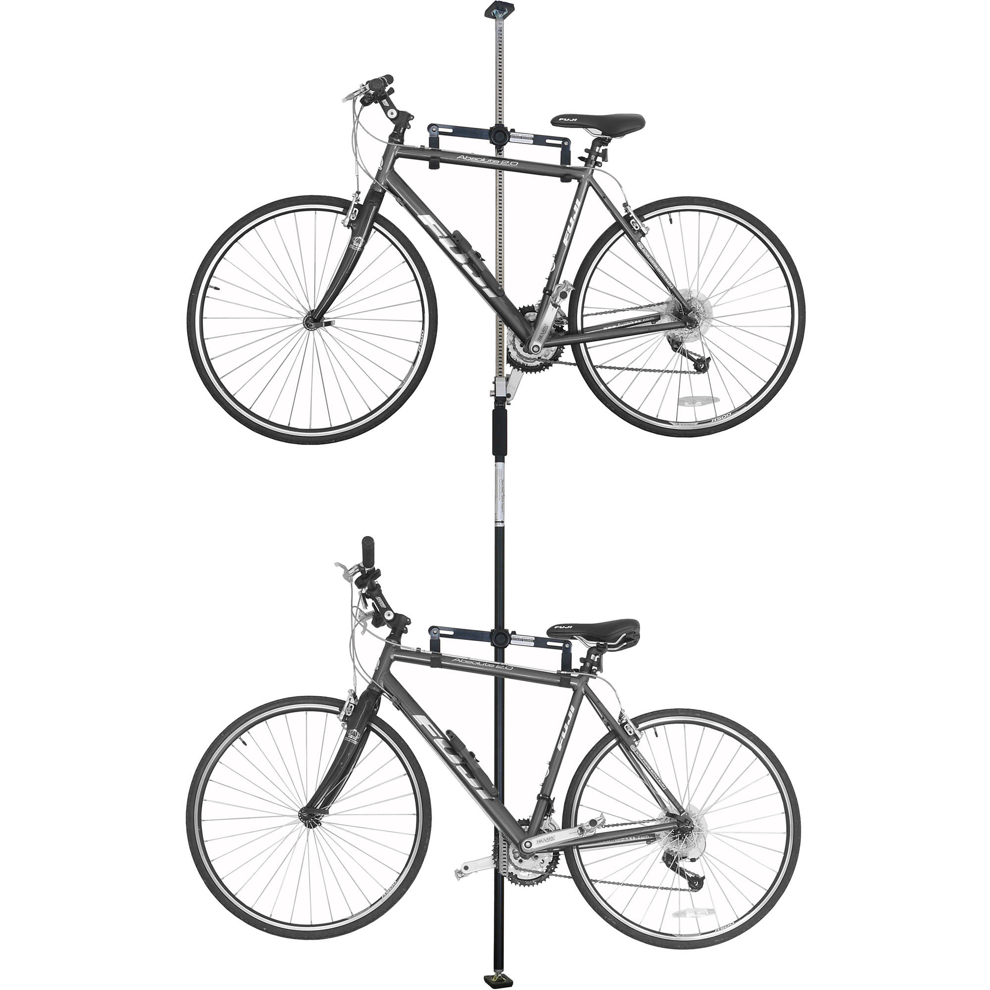 Sparehand Q-Rack Freestanding Adjustable 2-Bike Storage Rack for All Frame Types Stoneman Sports, DBR-9161-BK, Black