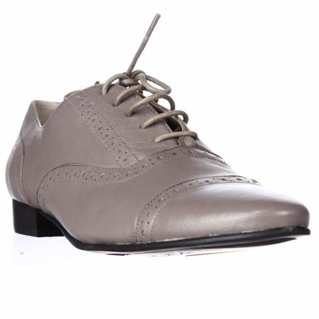 M.F. - Womens Pitrel Flat Oxford Shoes - Light Gray ...
