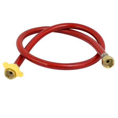 1M Length 304 Stainless Steel Flexible Faucet Toilet Hose Connector Red Flexible Faucet Hose