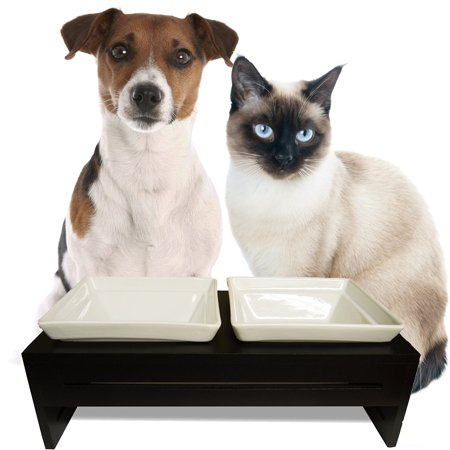 ProsperDog Pet Products The Dog Feeder and Cat Raised pet Bowls for Small to Medium Dogs and Cats - Puppy Feeding Station or Cat Food Bowl with