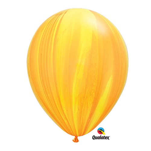 25 Qualatex Yellow Orange SuperAgate Balloons 11""