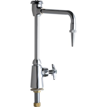 Chicago Faucets 928-GN8BVBE7 Single Hole Lab Faucet with Cross Handle and High Arch Vacuum Breaker Spout