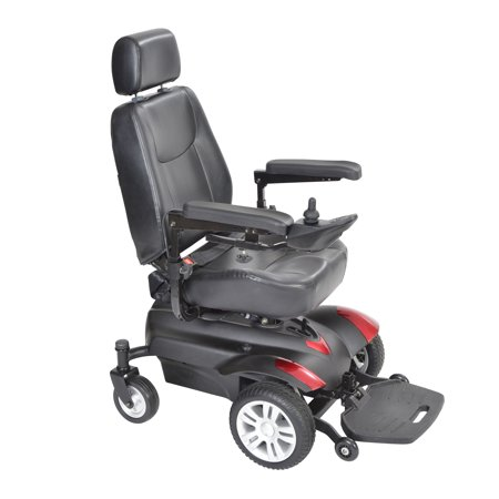 Drive Medical Titan X16 Front Wheel Power Wheelchair, Vented Captain's Seat, 18