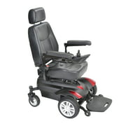 "Drive Medical Titan X16 Front Wheel Power Wheelchair, Vented Captain's Seat, 18"" x 18"""