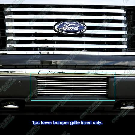 Fits 2009-2014 Ford F150 F-150 Pickup Trucks Bumper Billet Grille Grill Insert Chrome Grille Grill Insert