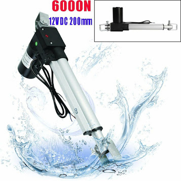 6000N Linear Actuator 12V DC 200mm Electric Door Opener With Mounting Bracket