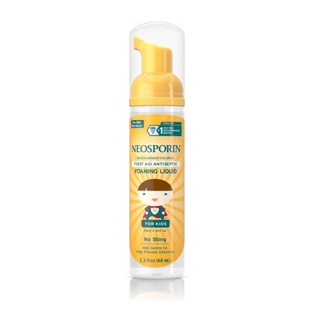 (2 pack) Neosporin Wound Cleanser For Kids To Help Kill Bacteria, 2.3 Oz