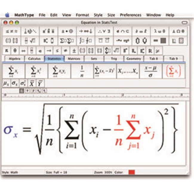 Design Science MTMA-RG-EN-001-E MathType 6.7 Academic ESD
