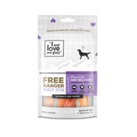 """""""I and love and you"""" Free Ranger Dog Chews, Beef Bully Stix, 2.5 Oz, 6 Inch"""