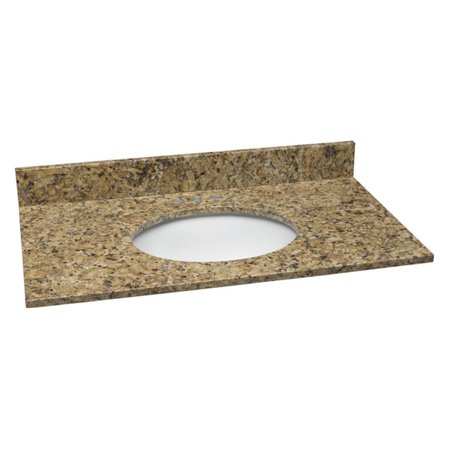 Design House 552406 Single Bowl Granite Vanity Top  25  X 22   Venetian Gold