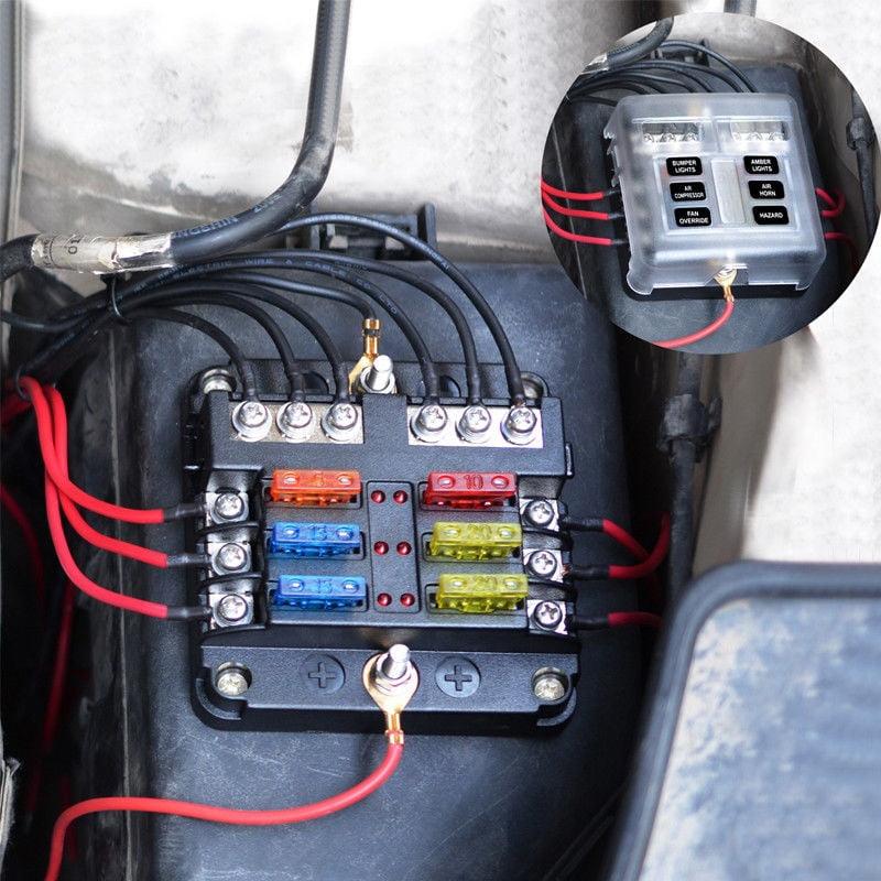 24V 4 Pole Fuse Box 12V