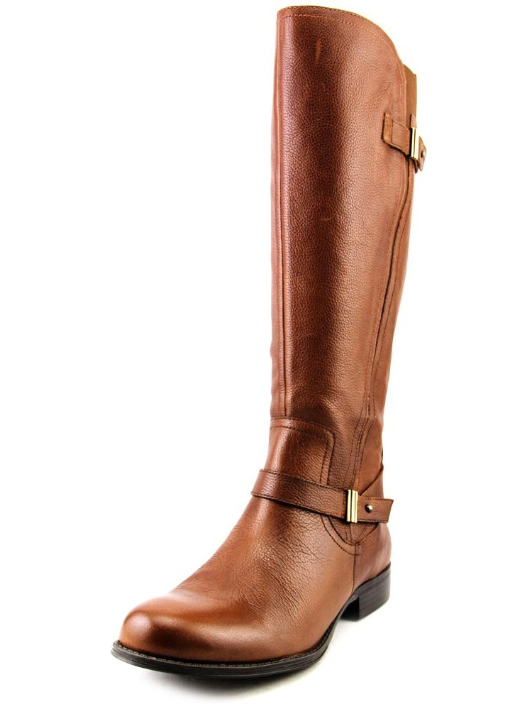 Naturalizer Joan Women Round Toe Leather Brown Knee High Boot by Naturalizer