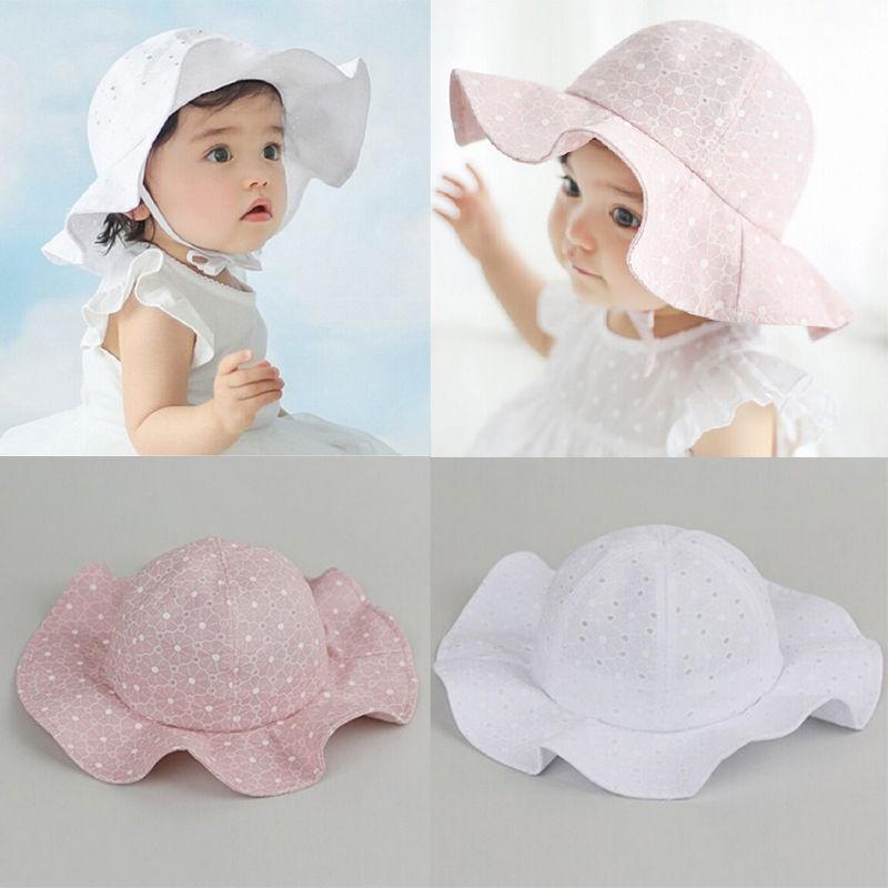Toddler Infant Sun Cap Summer Outdoor Baby Girls Boys Sun Beach Cotton Hat