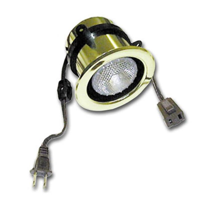 HD SL2020.3222 50W Halogen Light With Adjustable Mounting Ring and Switch Polished Brass by