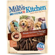 Milo`s Kitchen Steak Grillers Beef Recipe With Angus Steak Dog Treats, 18 oz