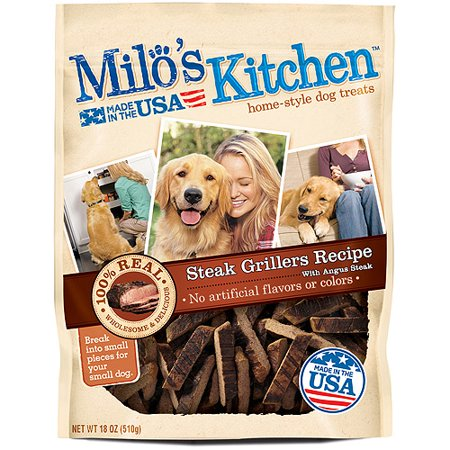 Milos Kitchen Steak Grillers Beef Recipe With Angus Steak Dog Treats  18 Ounce
