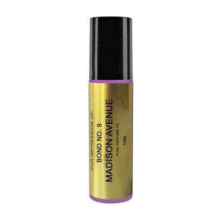 Perfume Studio IMPRESSION of Bond No. 9 Perfume; SIMILAR to B9 Madison Avenue Perfume. (10ml Purple Glass Roller)