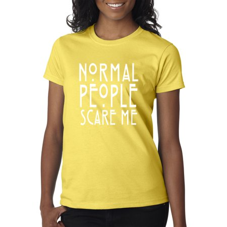 New Way 080 - Women's T-Shirt Normal People Scare Me American Horror Story 2XL Daisy