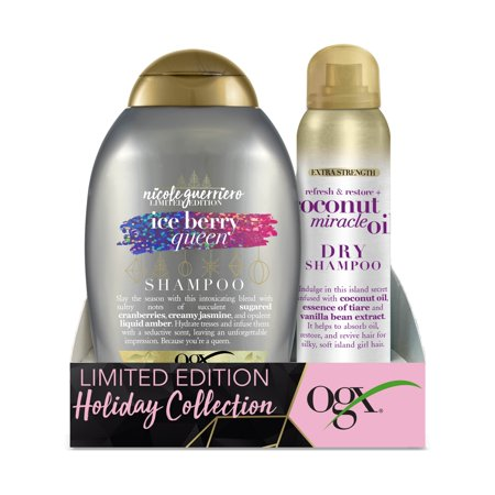 Ogx Ice Berry Queen Shampoo & Coconut Miracle Oil Dry Shampoo Holiday Set ($10.96 Value)