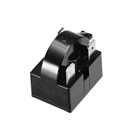 4.7 Ohm 3 Pin Refrigerator PTC Starter Relay Black - image 4 of 4