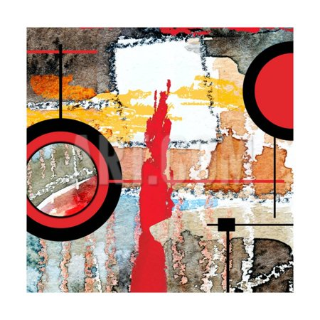 Abstract Art Collage, Mixed Media And Watercolor On Paper Print Wall Art By Andriy Zholudyev