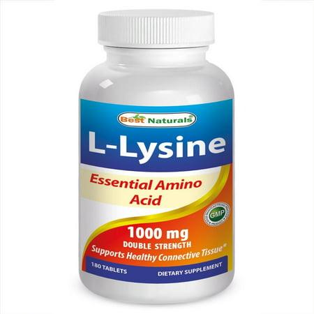Best Naturals L-Lysine 1000mg, 180 Ct