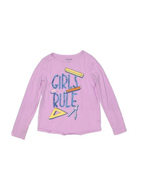 Pre-Owned Lands' End Girl's Size 6X Long Sleeve T-Shirt