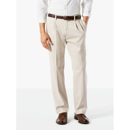 Dockers Men's Classic Pleated Easy Khaki with (Dockers Mens Alpha On The Go Pant)