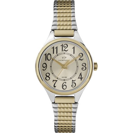 Women's 30mm Champagne Dial Watch, Two-Tone Expansion Band