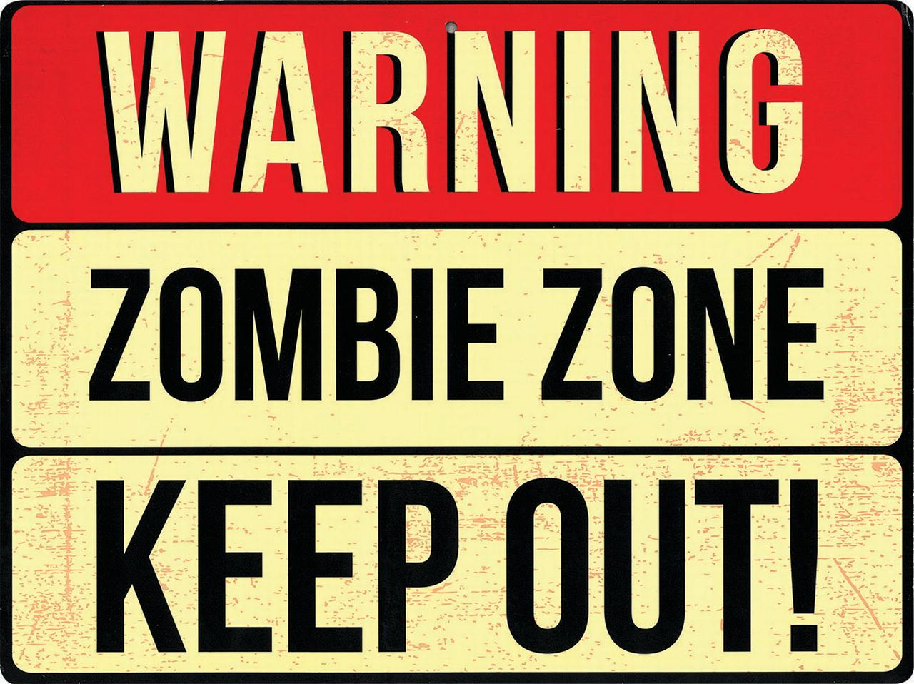 "12"" Warning Sign Zombie Zone Halloween Party Decoration Wall Décor Prop Funny by Forum Novelties, Inc"