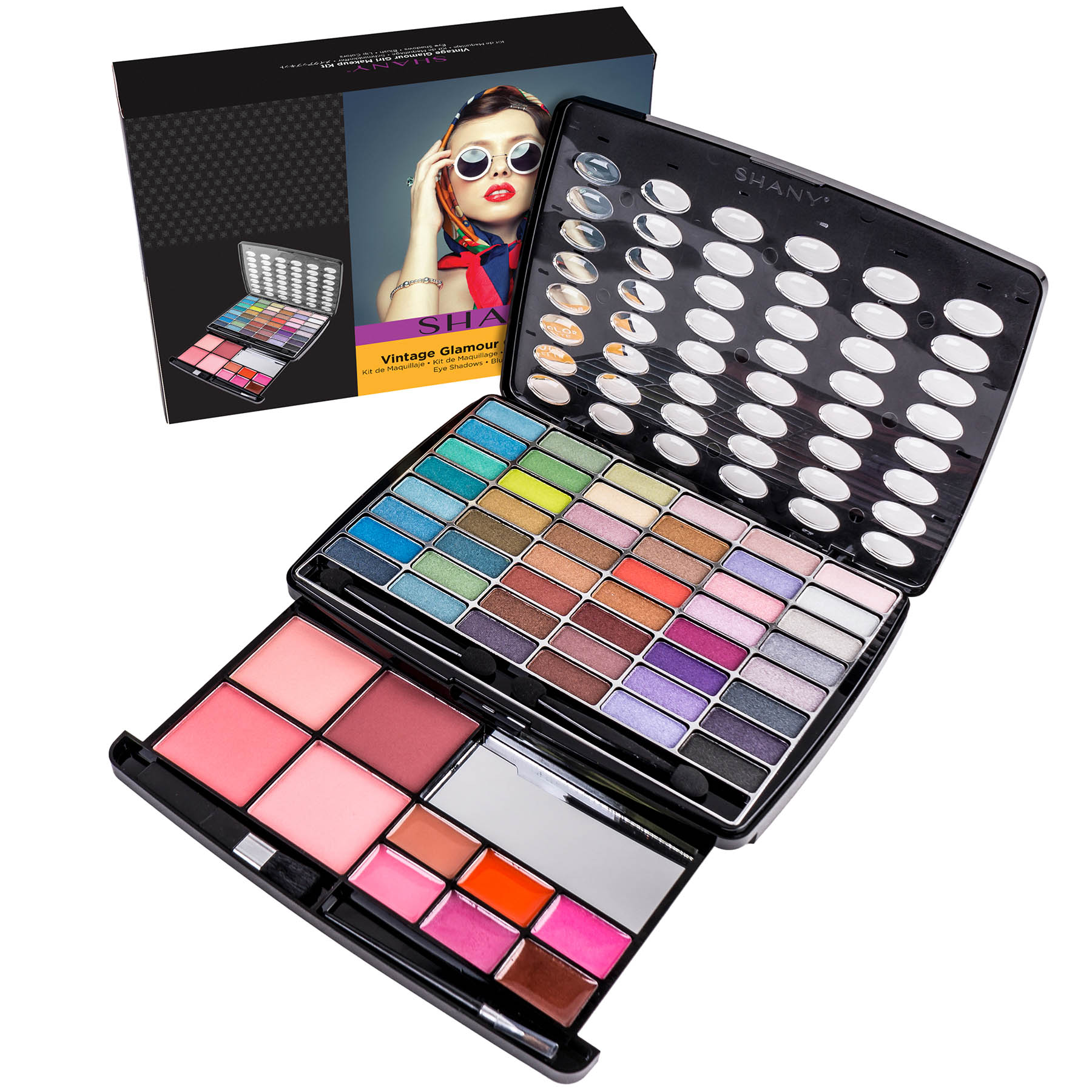 SHANY Glamour Girl Makeup Kit Eye shadow/Blush/Powder - Vintage