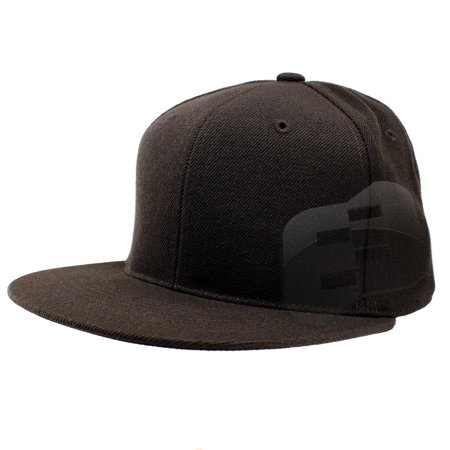 Enimay - Enimay Baseball Hats Caps Flat Bill Solid Color No Logo (MANY  COLORS SIZES AVAILABLE) Brown 7 - Walmart.com 654dc4ad06c