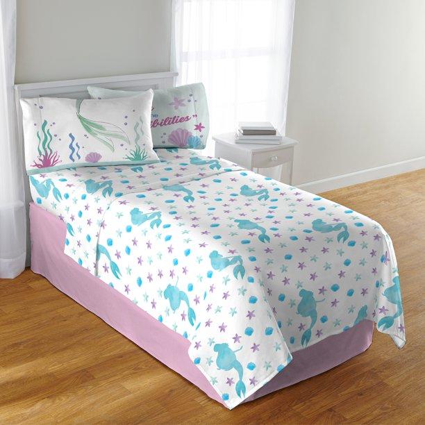 Disney S The Little Mermaid Sheet Set, Little Mermaid Bedding Full Size