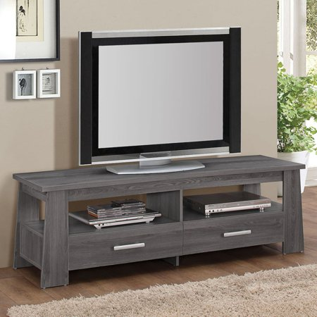Acme Falan Dark Gray Oak Tv Stand For Flat Screen Tvs Up To 60