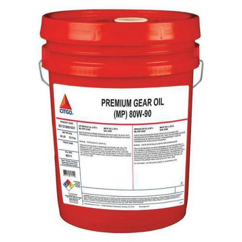 CITGO 631310001031 Gear Oil, Mineral Oil, Pail, 139 cSt, 35 lb.