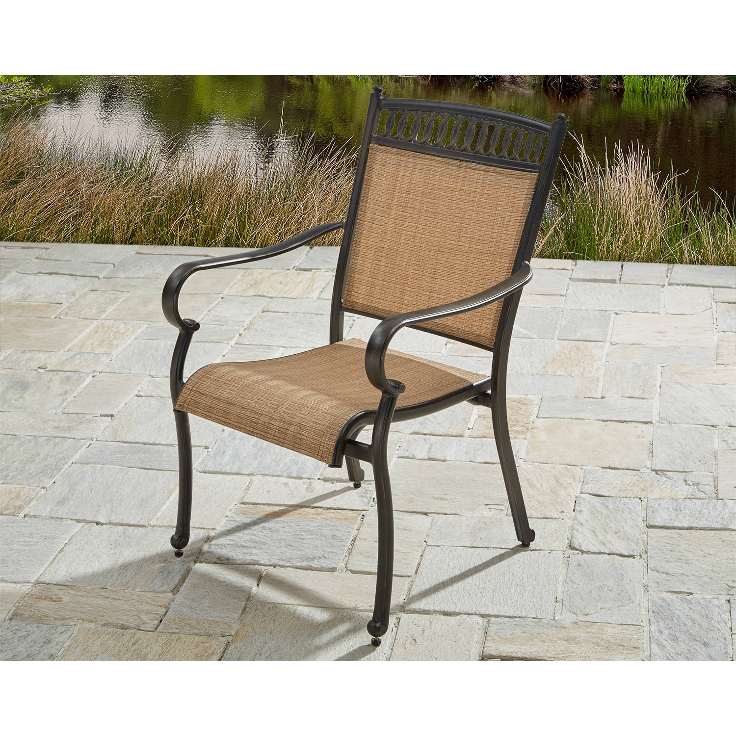 Better Homes and Gardens Warren Outdoor Dining Chairs- 4 Stationary and 2 Rocker