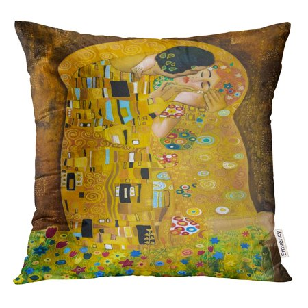 STOAG Brown Klimt Inspired Abstract Batik Painting Grounds of Gustav Purple Throw Pillowcase Cushion Case Cover 16x16 inch ()
