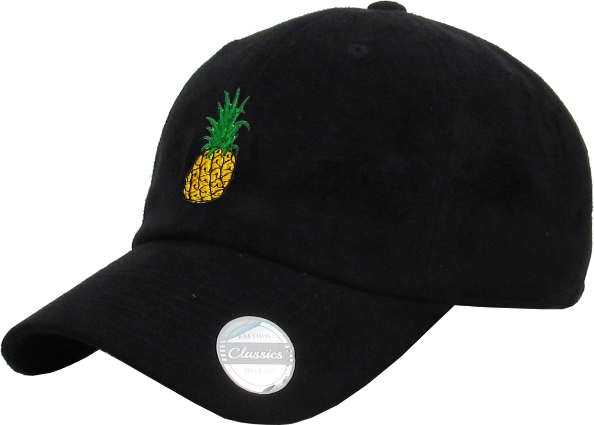 d7b933bc585 PINEAPPLE SUEDE DAD HAT BASEBALL CAP POLO STYLE UNCONSTRUCTED - Walmart.com
