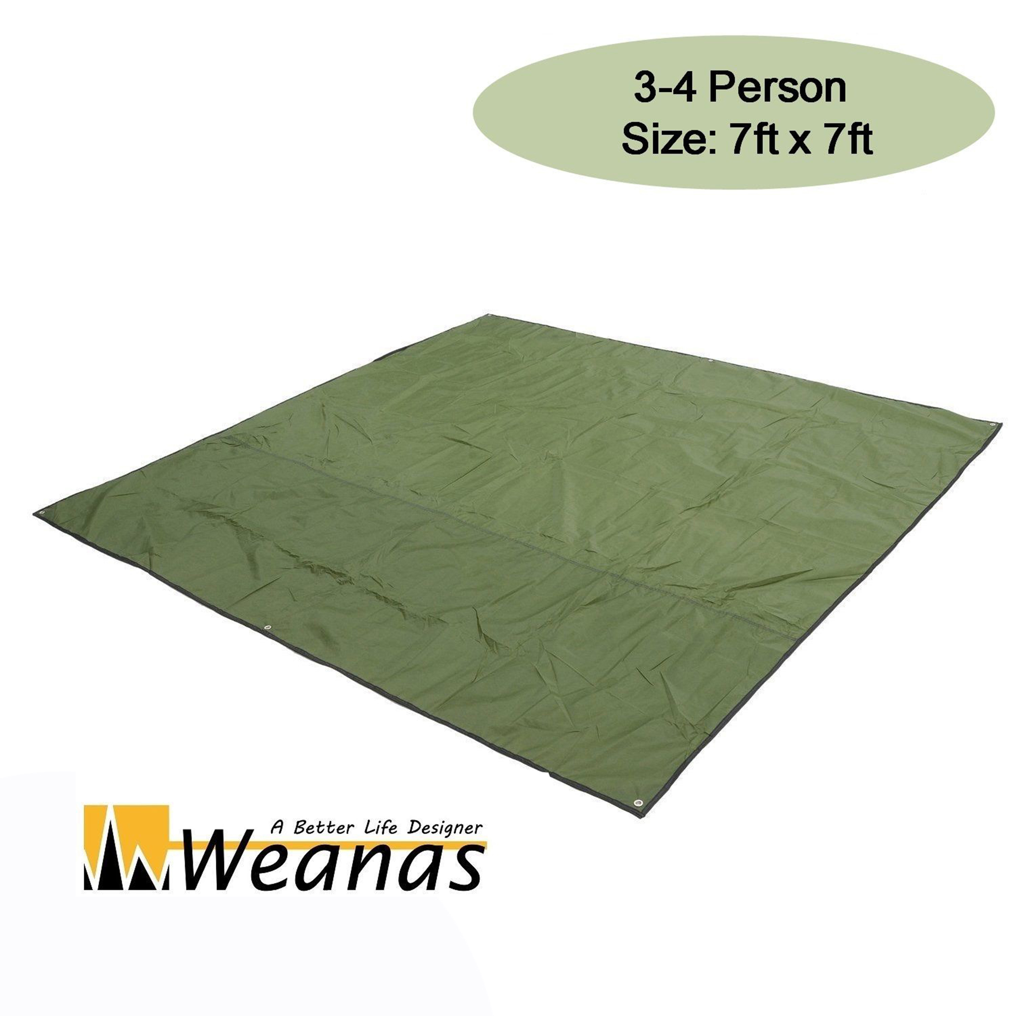 WEANAS 3-4 Person Outdoor Thickened Oxford Fabric C&ing Shelter Tent Tarp Canopy Cover Tent  sc 1 st  Walmart & WEANAS 3-4 Person Outdoor Thickened Oxford Fabric Camping Shelter ...