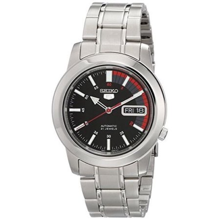 5 SNKK31 Men's Casual Stainless Steel Black Speed Dial Automatic Watch