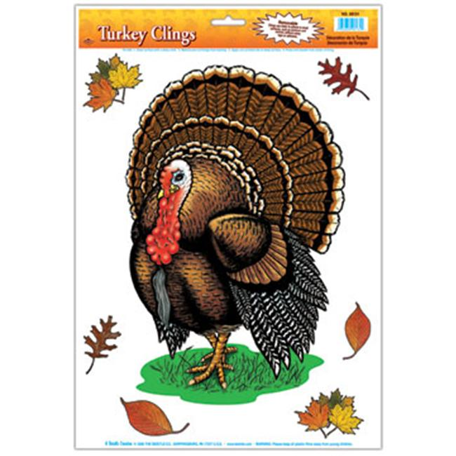 Beistle - 99131 - Turkey Clings- Pack of 12