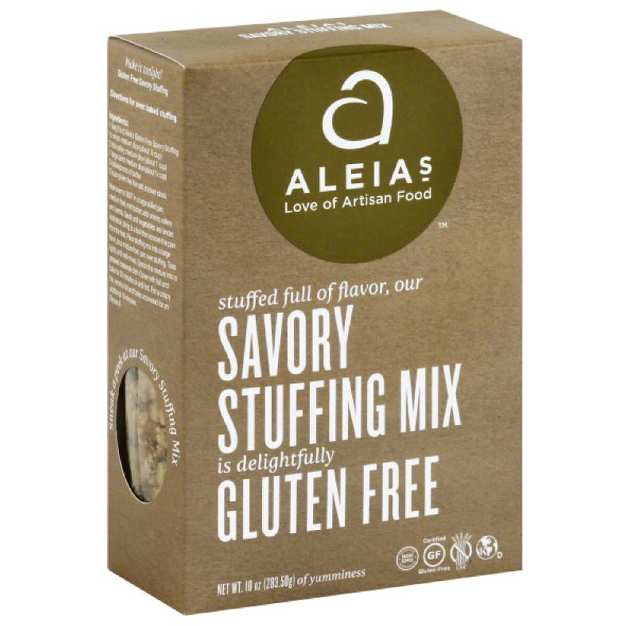 Aleias Gluten Free Savory Stuffing Mix, 10 oz, (Pack of 6)