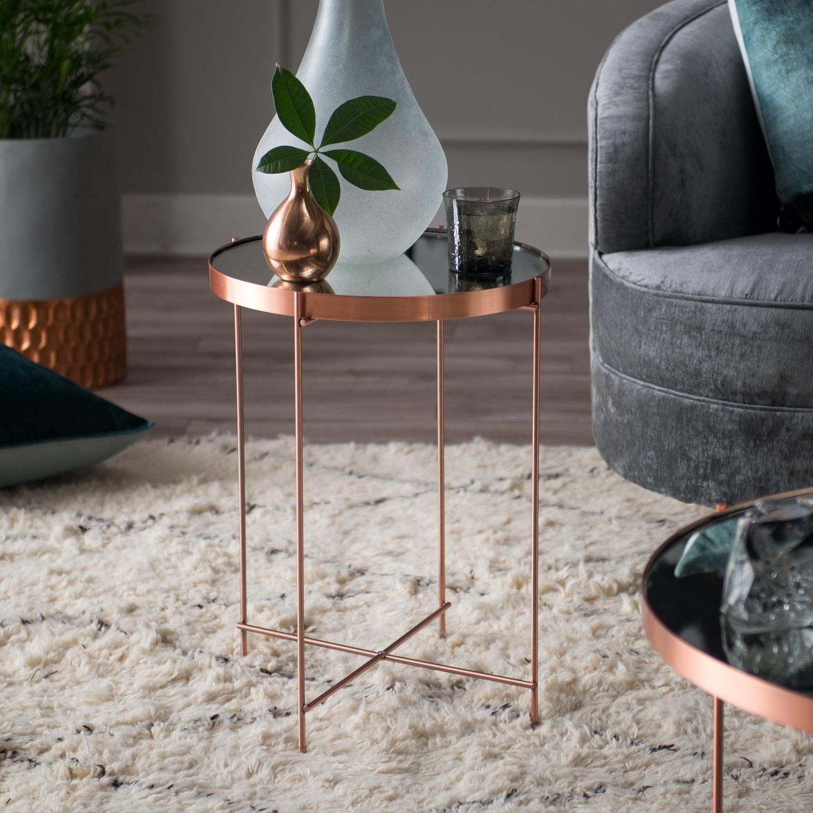 Belham Living Bradley Round Copper End Table