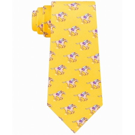 Canary Men's One Jockey Silk Neck Tie Not Applicable - Cheap Jockey Silks